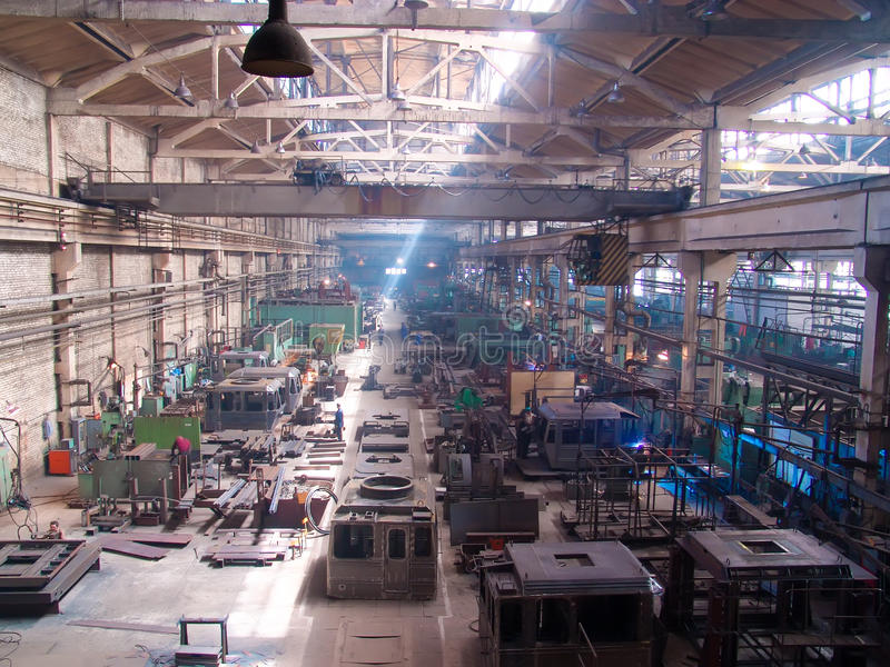 Car-Building Factory. Russia. Car-Building Factory. Inside View of the shop stock photography