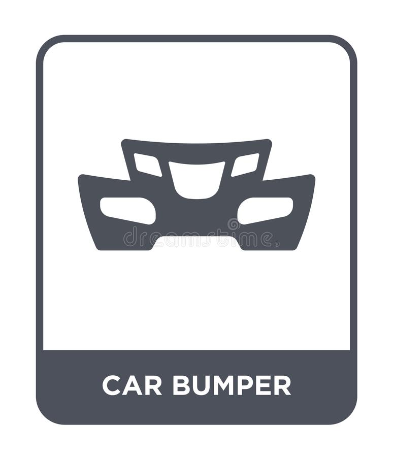 car bumper icon in trendy design style. car bumper icon isolated on white background. car bumper vector icon simple and modern vector illustration