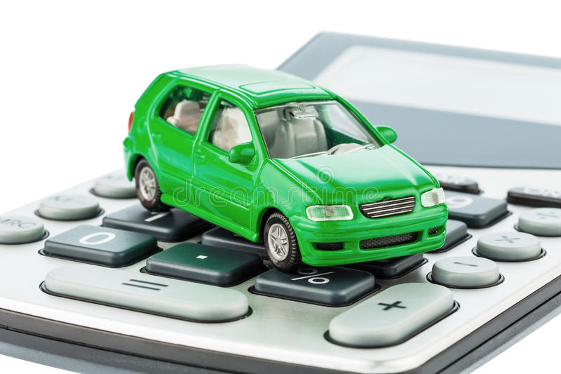 Car and calculator royalty free stock photo