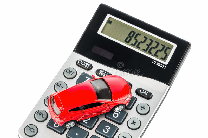 Car and calculator stock image