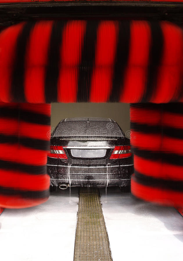 Download Car at a car wash stock photo. Image of lacquer, lights - 29024516