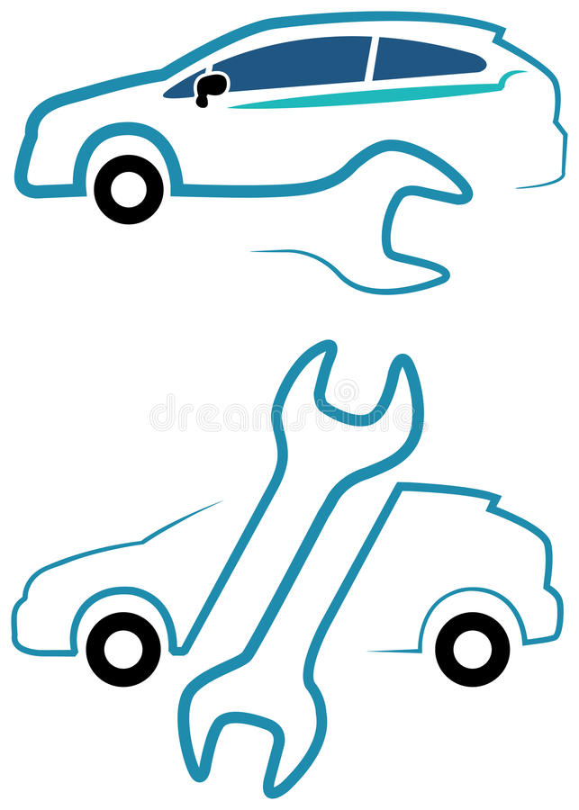 Line Art Design Background : Car care stock vector illustration of draw