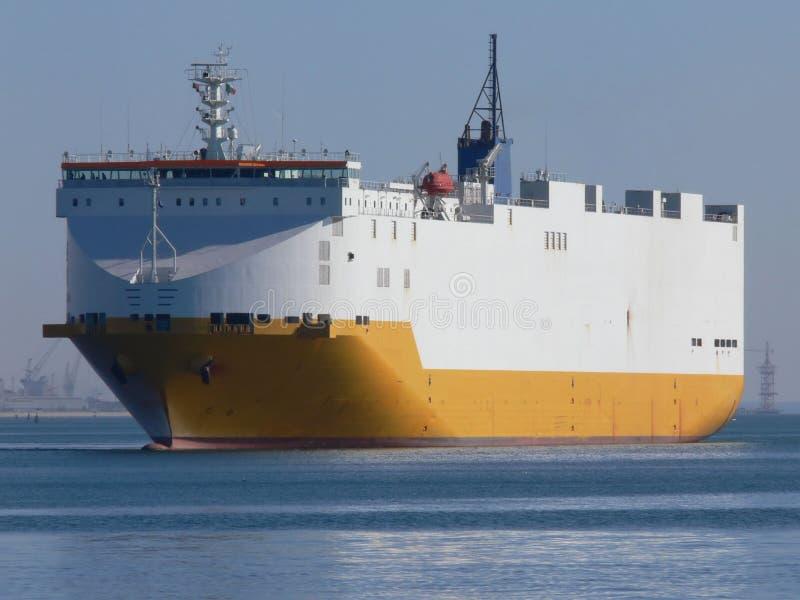 Car Carrier. Car Transporter at sea stock photos