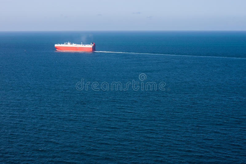 Download Car Carrier And Ocean Aerial View Stock Photo - Image: 18608832