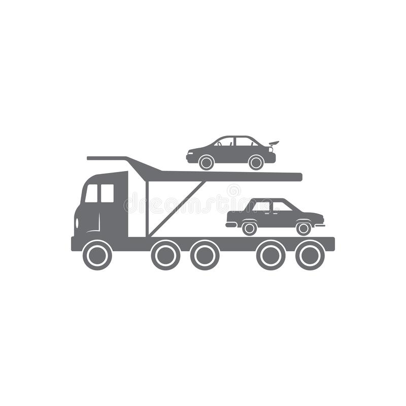 Car Carrier Truck icon. Simple element illustration. Car Carrier Truck symbol design from Transport collection set. Can be used fo royalty free illustration