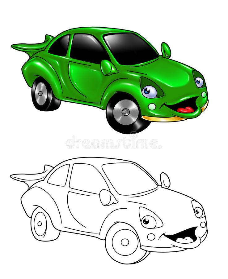 Download Car Cartoon Coloring Page 3 Stock Illustration - Image: 24402847
