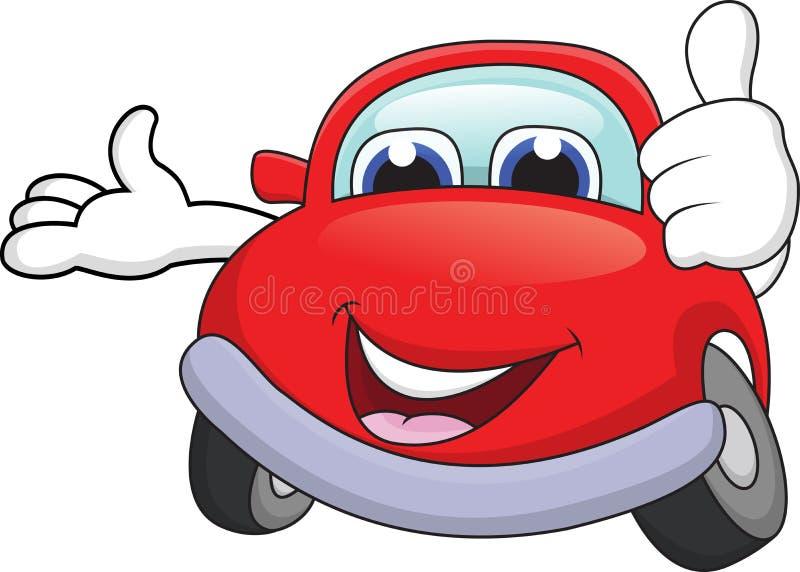 Download Car Cartoon With Thumb Up Royalty Free Stock Photos - Image: 25901578