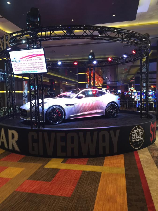 Car at the Casino stock photo
