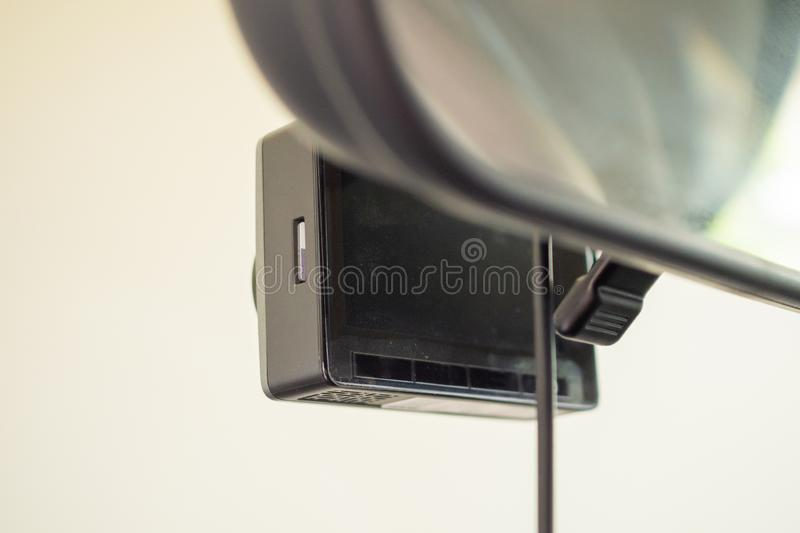 Car CCTV camera video recorder for driving safety stock photo