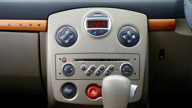 Car central console stock photography