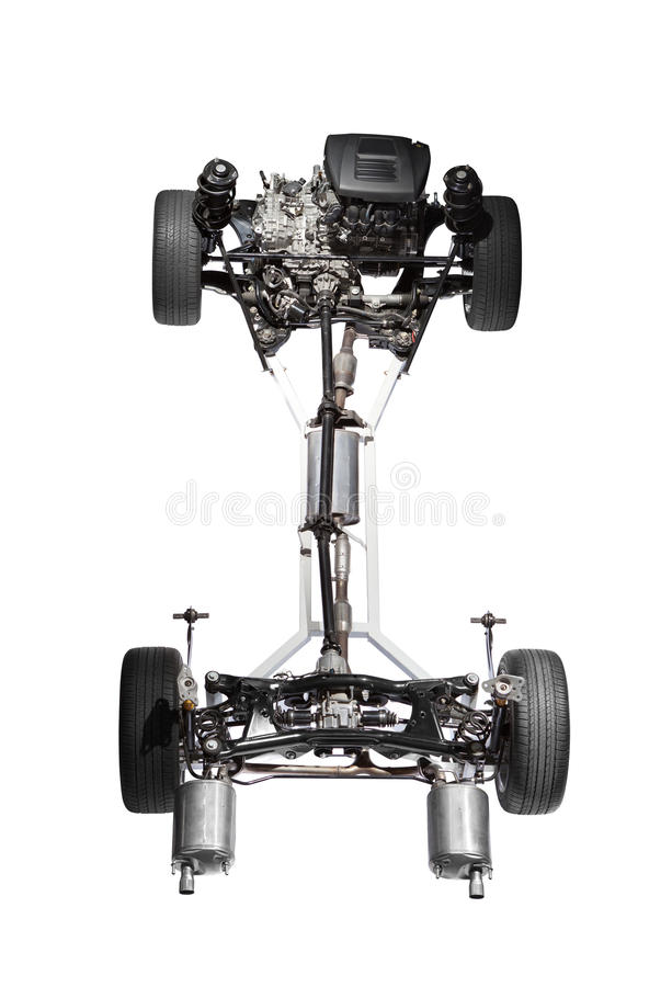 Download Car chassis with engine. stock photo. Image of engine - 23679800