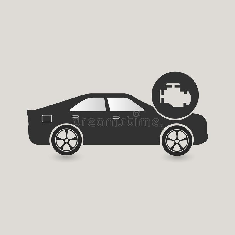 Car check icon. Maintenance, needs to be fixed royalty free illustration