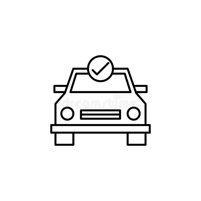 Car, check, maintenance outline icon. Can be used for web, logo, mobile app, UI, UX royalty free illustration