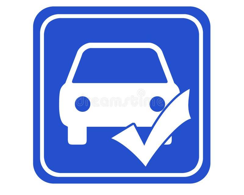 Car checkup vector illustration