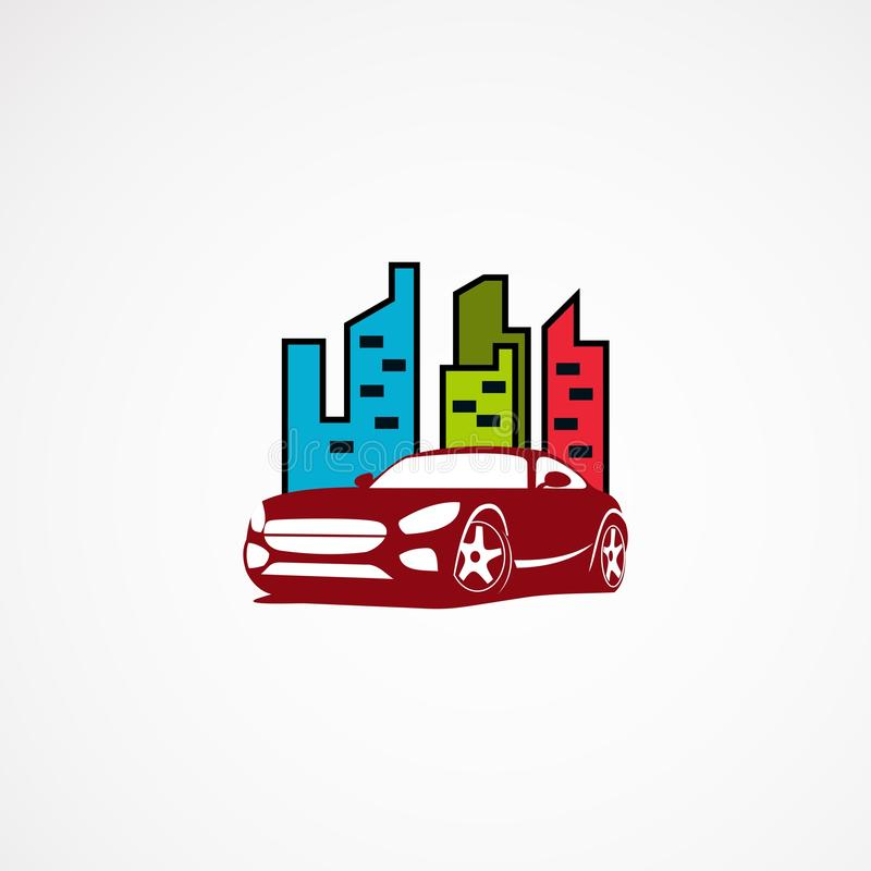 Car city logo designs concept, icon, element and template for company vector illustration