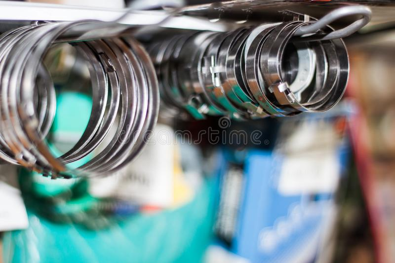 Car clamps stock photo