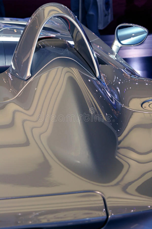 Sports Car Close Up Abstracted View stock photos