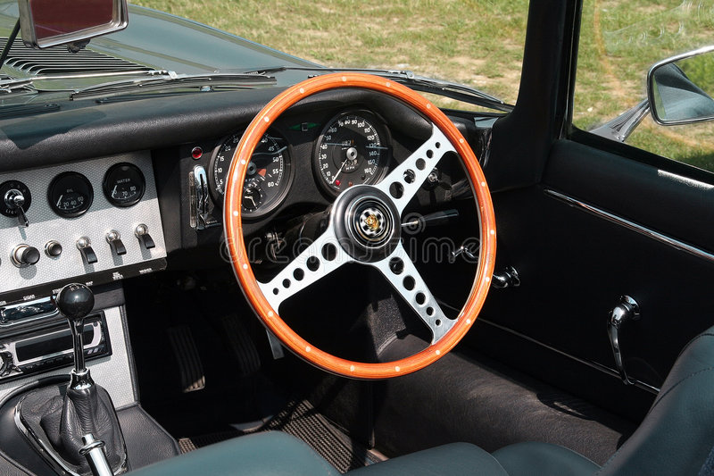 car closeup convertible interior sports vintage στοκ εικόνες