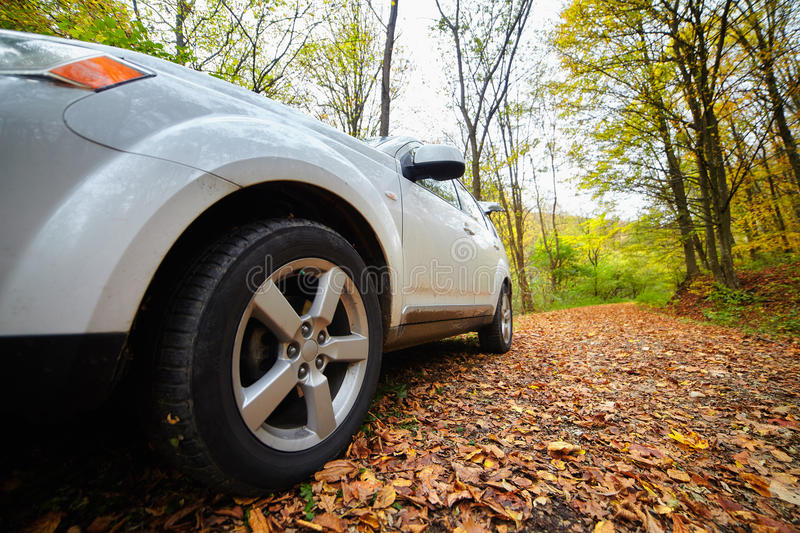 Car closeup, wide angle royalty free stock photography