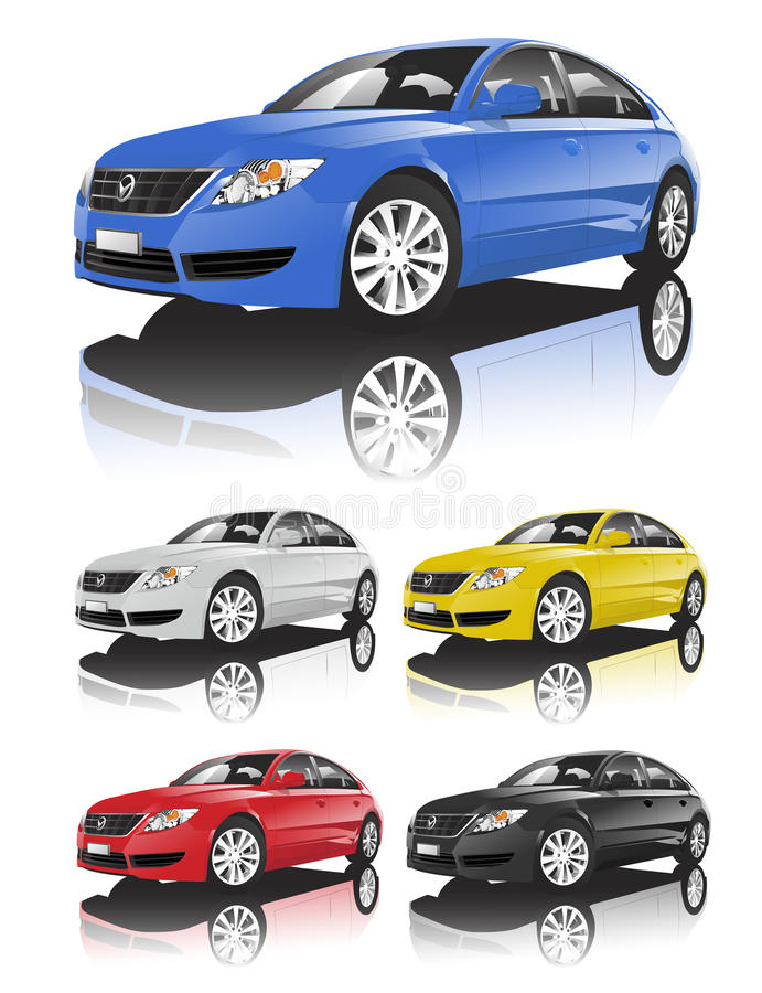 Car collection Vector stock illustration