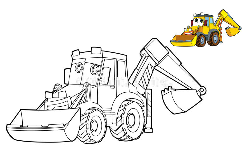 Car coloring page - illustration for the children stock illustration