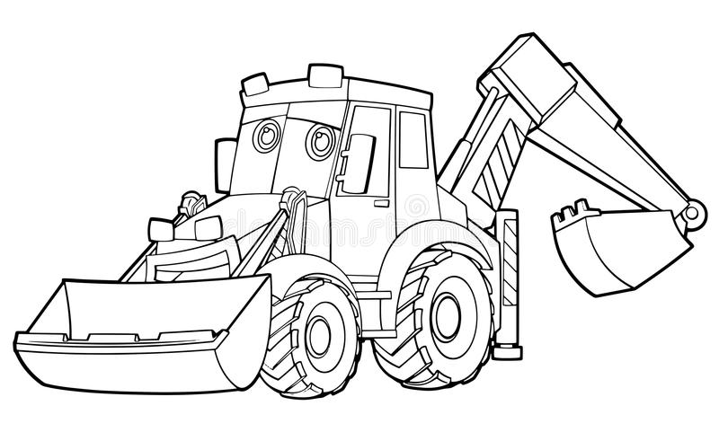 Car Coloring Page Illustration For The Children Stock