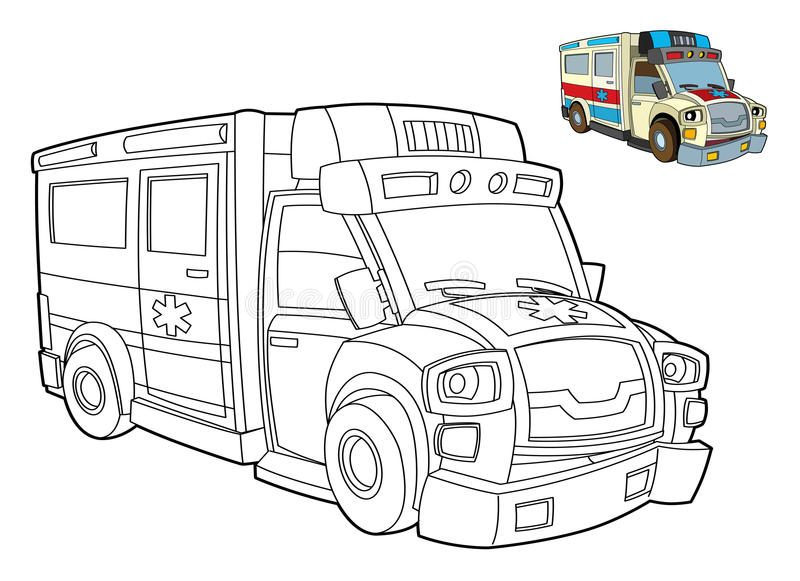 Car coloring page - illustration for the children royalty free illustration