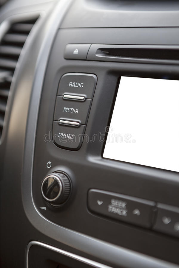 Car control panel with a cutout display royalty free stock photo