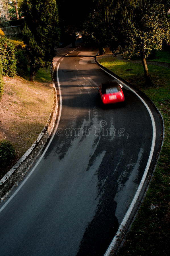 Download Car cornering stock image. Image of high, corner, countryside - 26891617