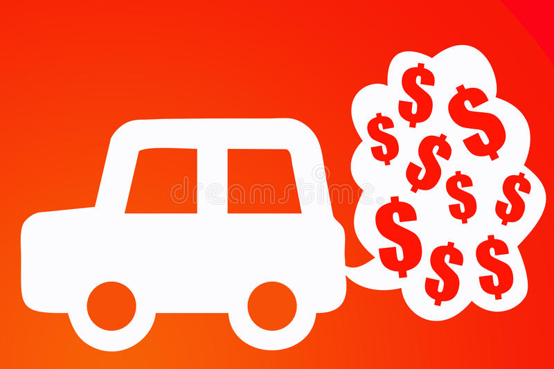 Download Car costs stock illustration. Illustration of fuels, costs - 15707137
