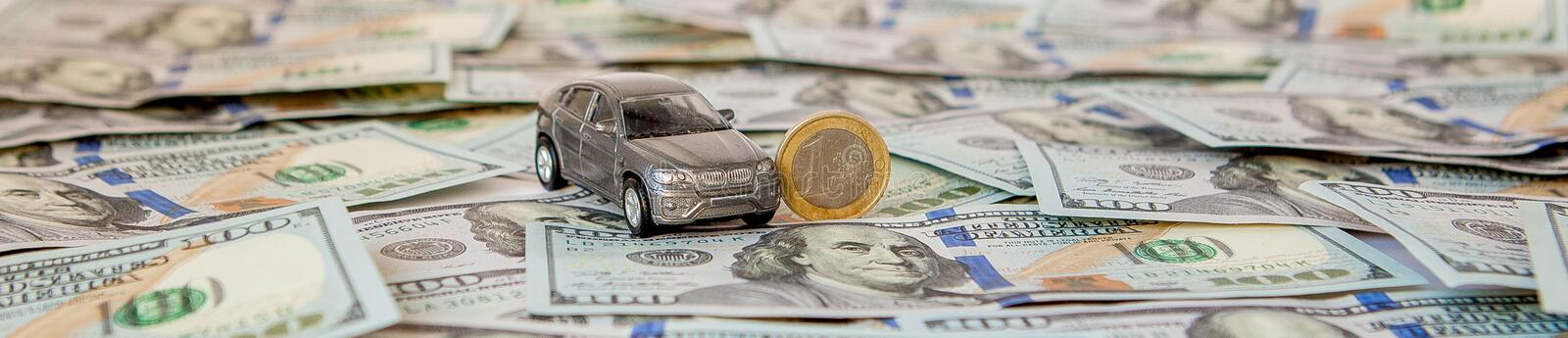 Car costs concept. Selective focus image with shallow depth of field stock image