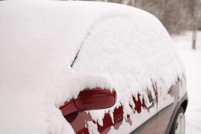 Download Car covered with snow stock image. Image of mirror, weather - 12352881