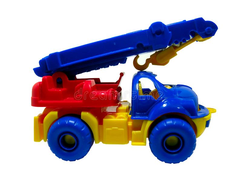 Car - crane clipping path royalty free stock image