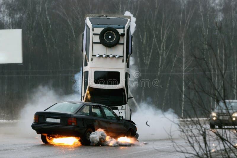 Download Car crash stock photo. Image of dangerous, stunt, highway - 12447738