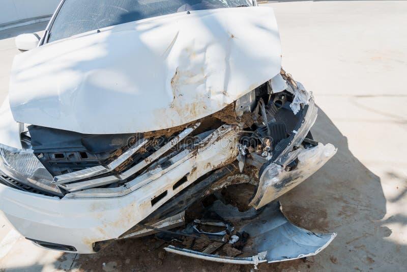 Car crash accident background stock photos