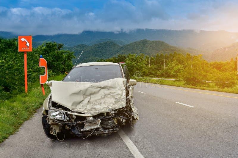 Car crash accident stock photo