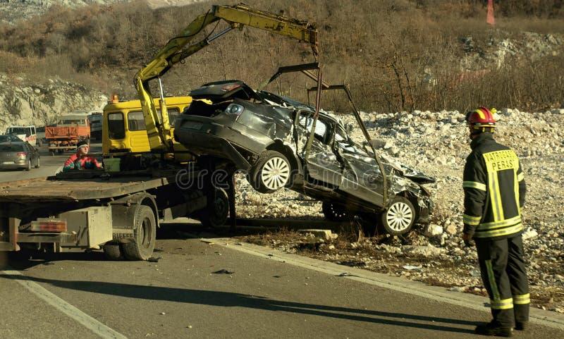 Car Crash Accident Scene In Montenegro Editorial Stock Photo - Image ...