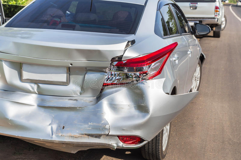 Car crash accident stock photography