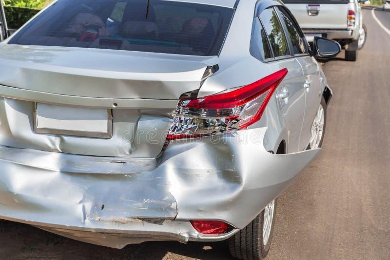 Car crash accident. On street royalty free stock image