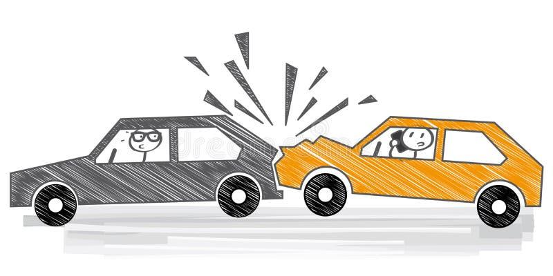 Car Crash Illustration Stock Illustration Illustration Of Danger