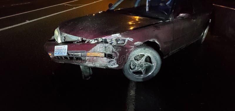 Car crash non fatal stock photography