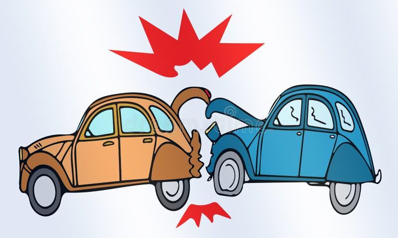 Car crash stock illustration. Illustration of problems - 64431796
