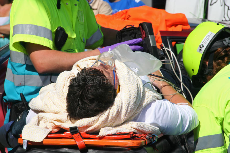 Car Crash Victim stock photo