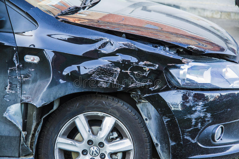 Car crush accident royalty free stock image