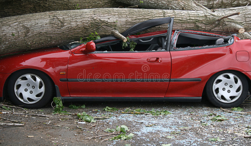 Download Car crushed stock image. Image of broken, trunk, crushed - 1726525