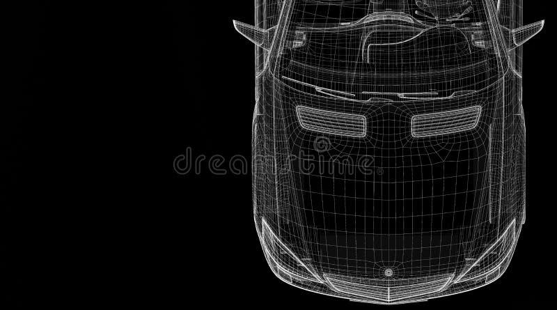 Car 3D Model Stock Photo