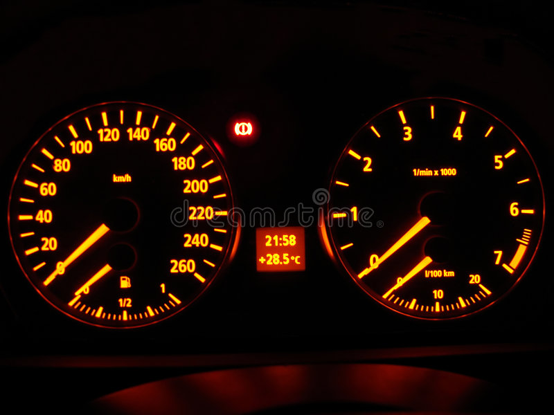 Download Car dashboard stock photo. Image of auto, mile, neon, acceleration - 1814986