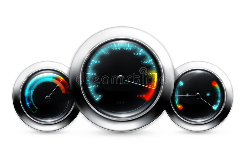 Car dashboard. Computer illustration, isolated