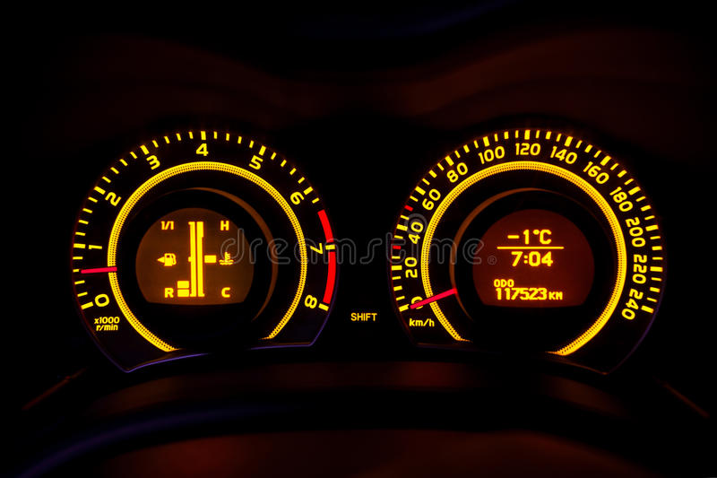 Download Car  dashboard stock image. Image of fast, glowing, blue - 28133551
