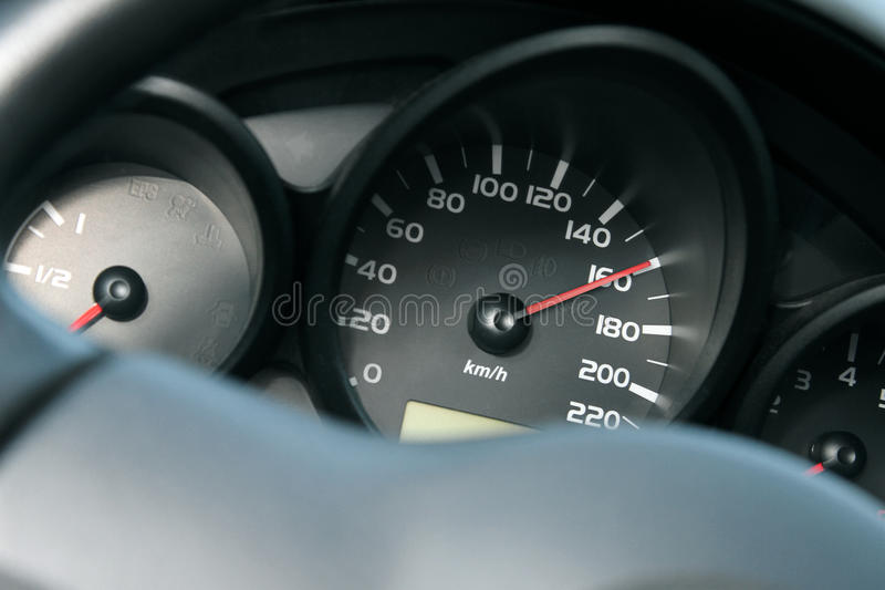Car dashboard. high speed concept royalty free stock images